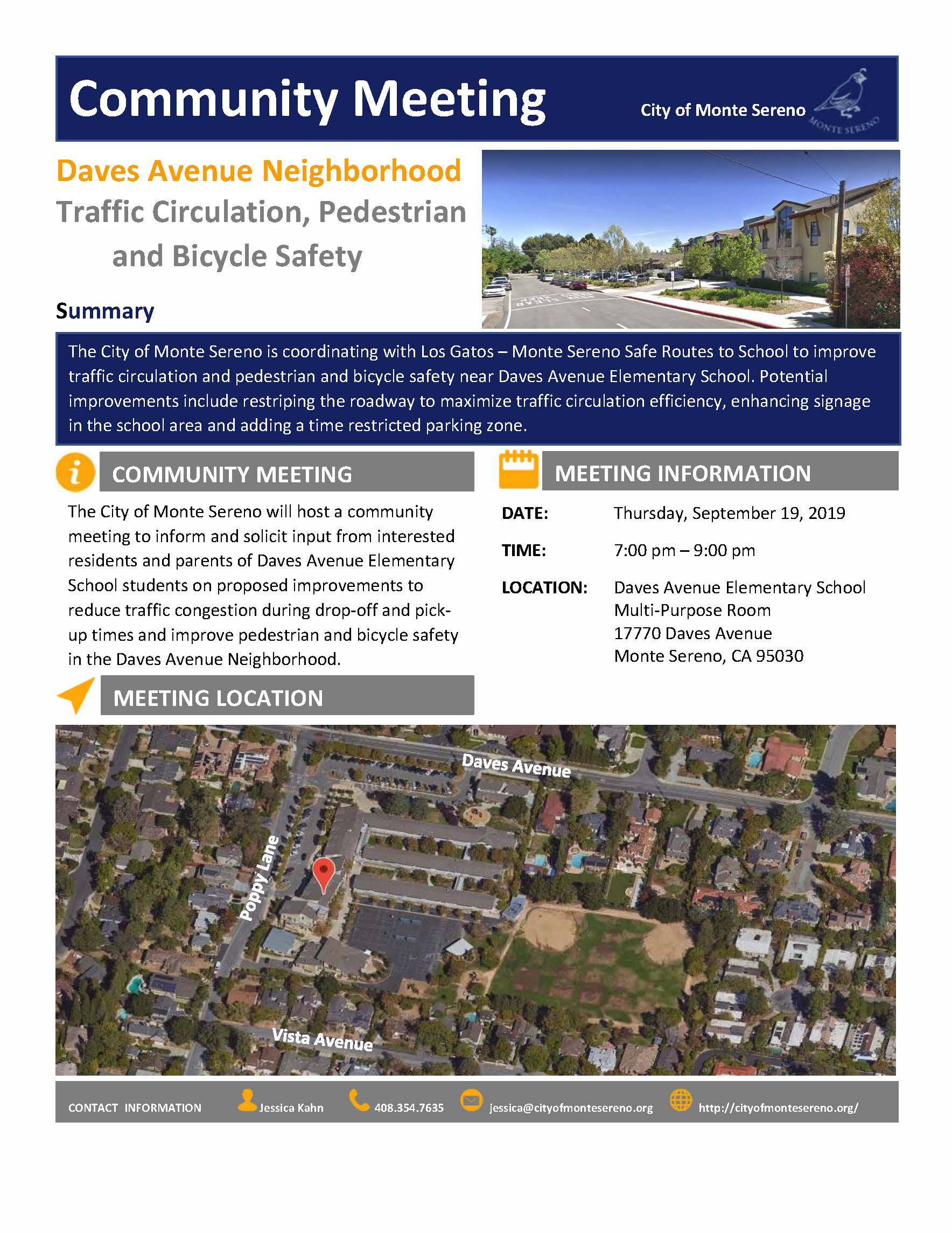 Daves Avenue Elementary flyer